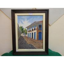 #11418 - Quadro Pintura Óleo Sobre Tela - José De Angelis!