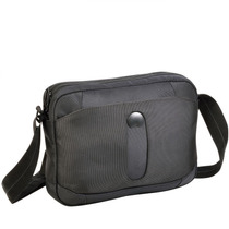 Morral Portatablet Negro Delsey Bellecour Mini Horizontal