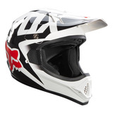 Capacete Moto Cross Fox Vf1 Race Branco Tam 56