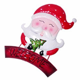 Enfeite Natal Rosto Papai Noel Para Porta Parede Natalina