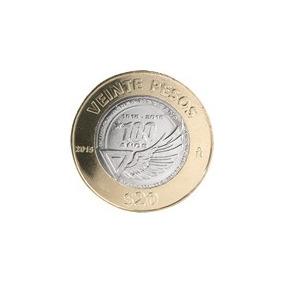 Moneda 20 Pesos Fuerza Aerea Mexicana 100 Años