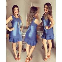 Vestidos Jeans Samara Pronta Entrega