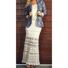 Saia Longa Em Crochê - Moda Fashion