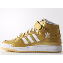 Tênis Adidas Originals Star Forum Nigo Gold, Pronta Entrega.
