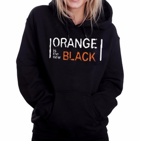 Blusa Moletom Orange Is The New Black Canguru Com Capuz