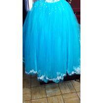 Vestido De 15 Años Azul Con Piedras Barato