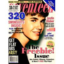 Revista Seventeen = Justin Bieber Poster Barriga Tanquinho!