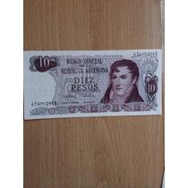 Billete 10 Pesos Argentinos Gral. Belgrano