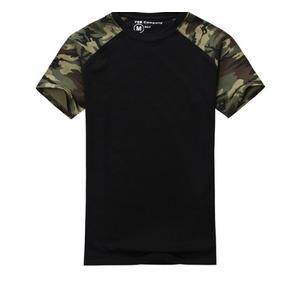 Camiseta Casual Manga Camuflada