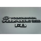 Kit Emblema Volkswagen Voyage Vw Mala Ls 1.8 83 À 90 Brinde