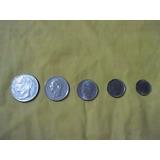 Monedas República De Venezuela 5, 2, 1, 0,50 Y 0,25