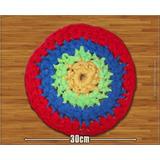Mini Tapete Redondo De Totora   Al Crochet   Art&deco