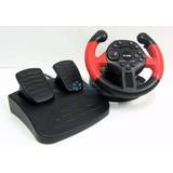 Volante Con Pedales Para Sony Ps3 Pc Vibración Garantía 6m