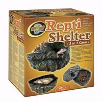 Repti Shelter Zoomed Escondite Gecko Cueva Reptiles Piton Ch