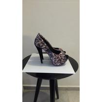 Sapato Peep Toe Sandalia Sapato Feminino Torricella Cod: 36