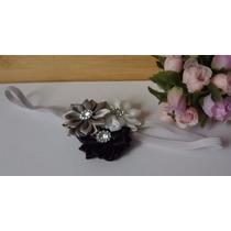 Faixa De Cabelo, Hairband Tiara Infantil Bebê 3 Flores