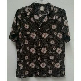 Camisa Social Seda Javanesa Feminina M - Seminova