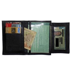 Carteira Porta Documentos De Veículos Couro Legítimo Com Nf
