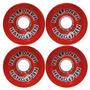 Roda Skate Longboard Vermelha Downhill Slide Esporte 70x51mm