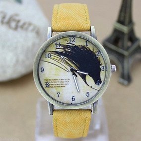 Hermoso Reloj Con Caballo Salvaje Mustang