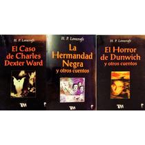 Lovecraft Paquete 3 Libros Horror Dunwich Hermandar Negra De