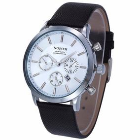 Relógios North Marca Luxo Casual Fundo Branco