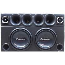 Caixa Trio 2 Subwoofer Pioneer W310 + Corneteira 3880 Watts