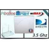 Panel 19db Wimax Directvnet 7 Mtr De Cable 200% + De Potecia