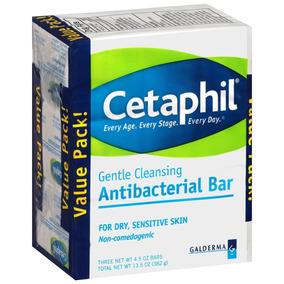 Kit Com 3 Unidades Sabonete Cetaphil Antibacterial Bar 127g