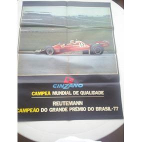 Poster Ferrari - Carlos Reutmann - Campeão Gp Brasil F1 1977