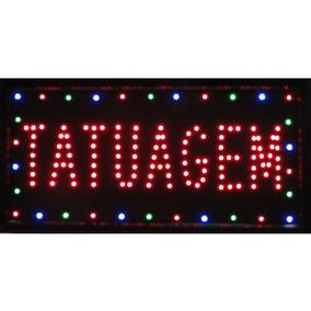 Placa De Led Letreiro Luminoso Tatuagem 1878 220v