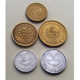 Monedas De Uruguay 20-50 Cent Y 1-5-10 Pesos Serie Año 1965