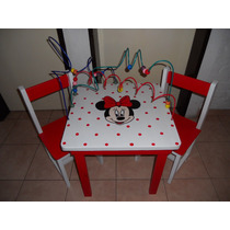 Mesa Didáctica Con Pronos Cars, Minnie
