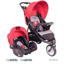 Carrinho Bebe 3 Rodas Travel System Fox C/ Bebe Conforto Cv