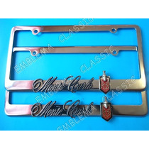 Porta Placas Montecarlo Chevrolet Landau Ss Austero Emblemas