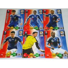 Lote De 6 Cards Da França - Copa Do Mundo 2010 South Africa