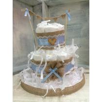 Pañales Torta Babyshower Regalo Pampers Recien Nacidos