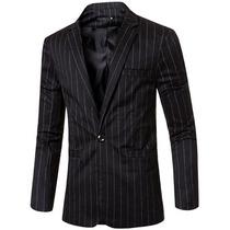 Saco Blazer Hombre Slim Fit Con Rayas Formal Elegante Sastre