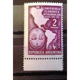 Argentina, Gj 1083a Tizado, Mint V.c. 6 Dolares.
