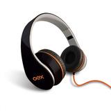 Fone Ouvido Headphone Preto Oex Hp100 Dobrável Com Microfone