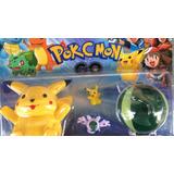Blister Set Pokemon Pokebola + 3 Muñecos !! Luz Y Sonido!!