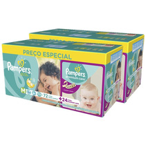 Fraldas Pampers M Total Confort C/144 + Premium Care C/48