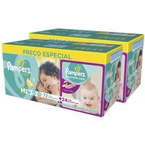 Fraldas Pampers M Total Confort C/144 + Premium Care C/48