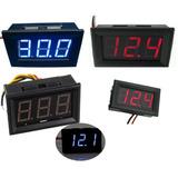 Mini Voltímetro Digital Automotivo Led Medidor Bateria