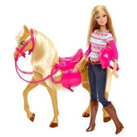 Juguete Barbie Tawny Caballo Y Sistema De La Muñeca