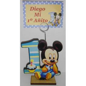35 Souvenirs Mickey Bebe Primer Año Personalizado + Central