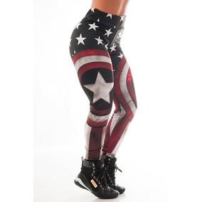 accb71fa0 Calça Legging Capitão América Academia Maromba Moda Fitness. R  44 90