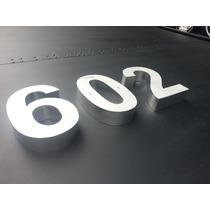 Numeros Residenciales 3d Acero Inoxidable De 30 Cms Altura