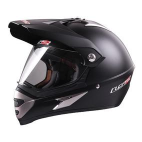 Casco Motocross Ls2 Mx433 Single Mono Matt Black Talle S