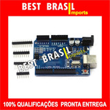 Arduino Uno R3 + Tutoriais + Barra De Pinos / Melhor Preço!